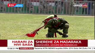 Military officer injured during Madaraka fete after landing heavily on the stadium
