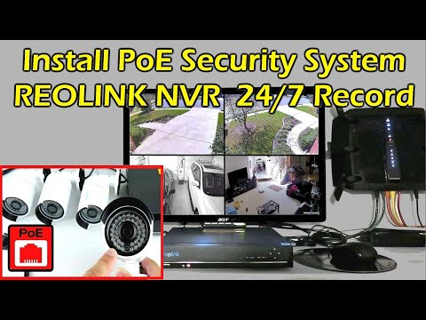 Install Home Security Camera System 24/7 Recording NVR REOLINK