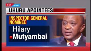 President Uhuru nominates Hillary Mutyambai as the new Inspector General