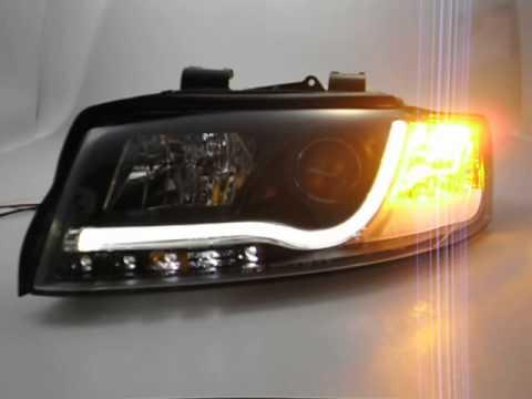 SW-LTube Scheinwerfer Audi A4 B6 8E Lighttube black SW-Tuning