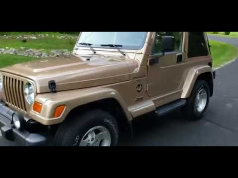 1999 Jeep Wrangler Sahara 2dr 4WD SUV in Big Bend, Wisconsin - Video 1