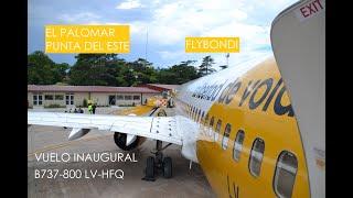 Despegue De El Palomar En El Vuelo Inaugural De Flybondi A Punta Del Este