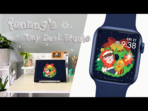 DRAW your own Apple Watch Face!|Apple Watch Series 6 (Unboxing/ASMR)【自製蘋果錶面】FENNNG Tiny Desk Studio