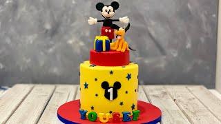 Mickey & Pluto Cake