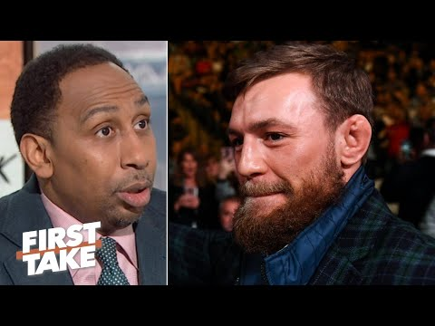 Stephen A. reacts to Conor McGregor hoping for a rematch against Floyd Mayweather   First Take