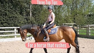 DOES YOUR HORSE RUSH AFTER A FENCE? IM HERE TO HELP. TOP TIPS FRIDAY