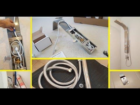 Shower Panel Installation VALORE VS1205. Гидромассажная панель-стойка