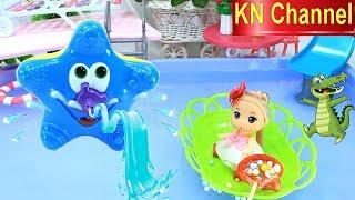 KN Channel BÚP BÊ BẢO VỆ HỒ BƠI SẠCH ĐẸP VỚI Đồ chơi trẻ em ĐÀI PHUN NƯỚC CỦA BÉ NA bắn nước lên cao