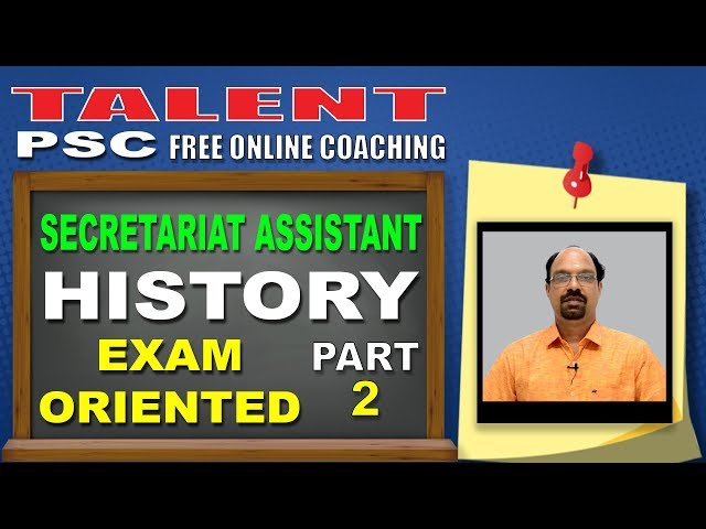 Highly Expected History Questions PART-2 | Secretariat Assistant | Kerala PSC | TALENT ACADEMY
