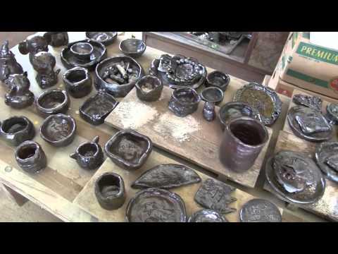 種子島の焼窯:古田小学校の御前窯活動窯出しダイジェスト