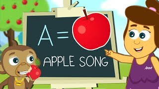 Apple Song | An Apple A Day Keeps a Doctor Away | Nursery Rhymes For Children by HooplaKidz