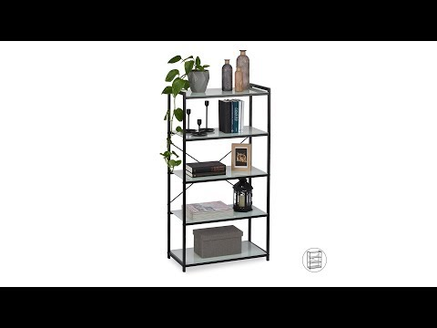 Standregal Metall mit Glasböden