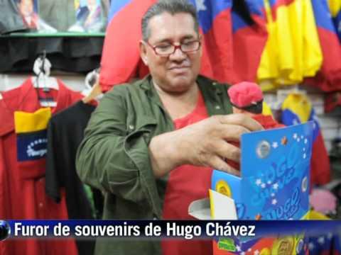 Souvenirs chavistas y revolucionarios, un negocio en auge en Ven