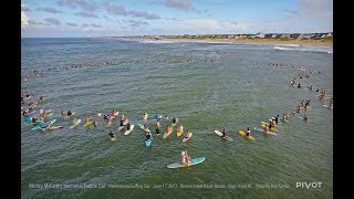 Mickey McCarthy OBX Paddle Out by Drone
