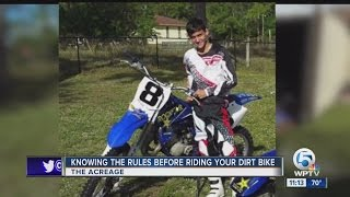 Knowing the rules before riding your dirt bike