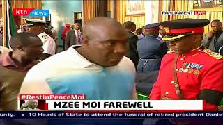 Former President Mwai Kibaki expected in Parliament to pay his last respects to Mzee Moi