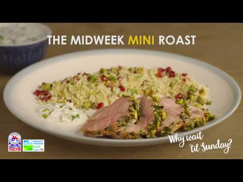 Mini Roast Lamb with pistachio & orange