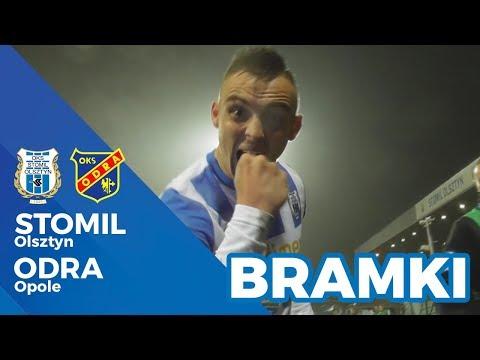 Bramki z meczu Stomil Olsztyn - Odra Opole 2:0