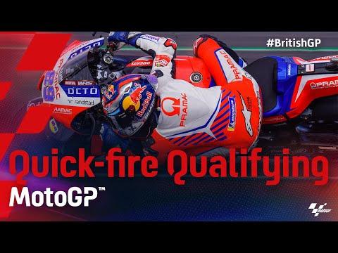 MotoGP 2021 第12戦イギリス 予選タイムアタックのハイライト動画