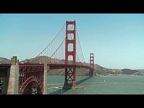 Golden Gate Bridge in USA. Мост Золотые