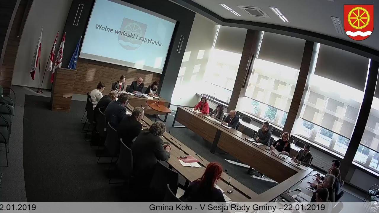 Zdjęcie do V Sesja Rady Gminy Koło
