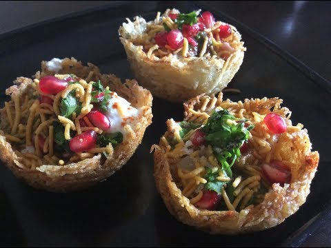 Potato basket chaat