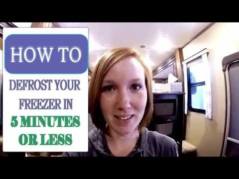 How to Defrost Your Freezer in Less than 5 minutes!