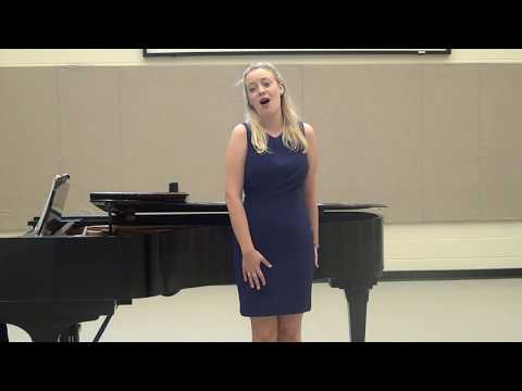 A recent recording of me singing Je suis encor from Massenet's Manon.