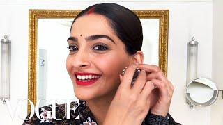 Sonam Kapoor Gives a Lesson in '90s Bollywood Beauty | Beauty Secrets | Vogue