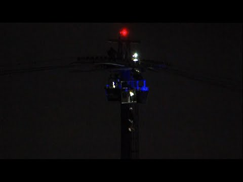 """Police say more than a dozen people were trapped on """"Bayside Skyride"""" at SeaWorld in San Diego. San Diego police tell FOX5 News that around six gondolas stopped functioning Monday night. Video from KGTV showed some people being lowered. (Feb. 19)"""