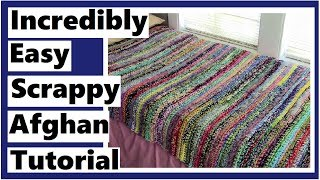 Incredibly Easy Scrappy Afghan Tutorial - Learn How To Crochet With Darlene