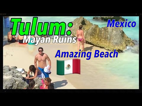 Mexico. Tulum Mayan Ruins and Amazing Beach of Mexico