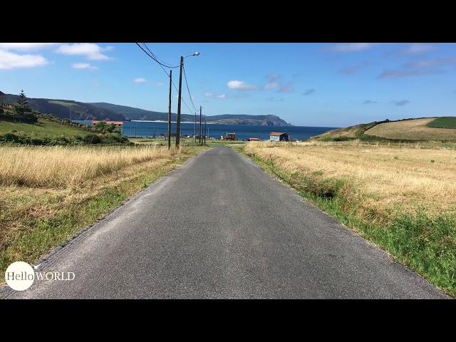 Straße Richtung Praia de Nemina