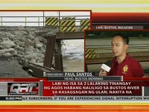 [GMA]  Panayam kay Paul Santos, head, Bustos MDRRMO