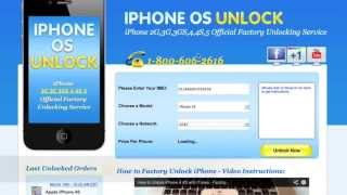 How to Unlock any iPhone 3gs 4 4s 5 Without Jailbreak - Factory Unlock