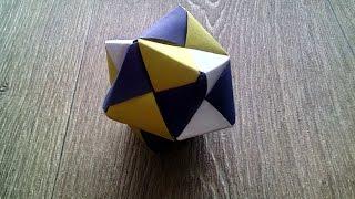 ИКОСАЭДР. Как сделать икосаэдр из бумаги. Модульное оригами