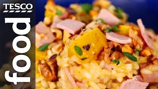How to make ham and pumpkin risotto with thyme