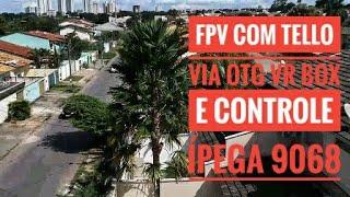 FPV com dji Tello + Controle IPEGA 9068 + OTG