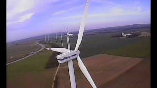 Helicopter Flight to E-126 and Vestas V90