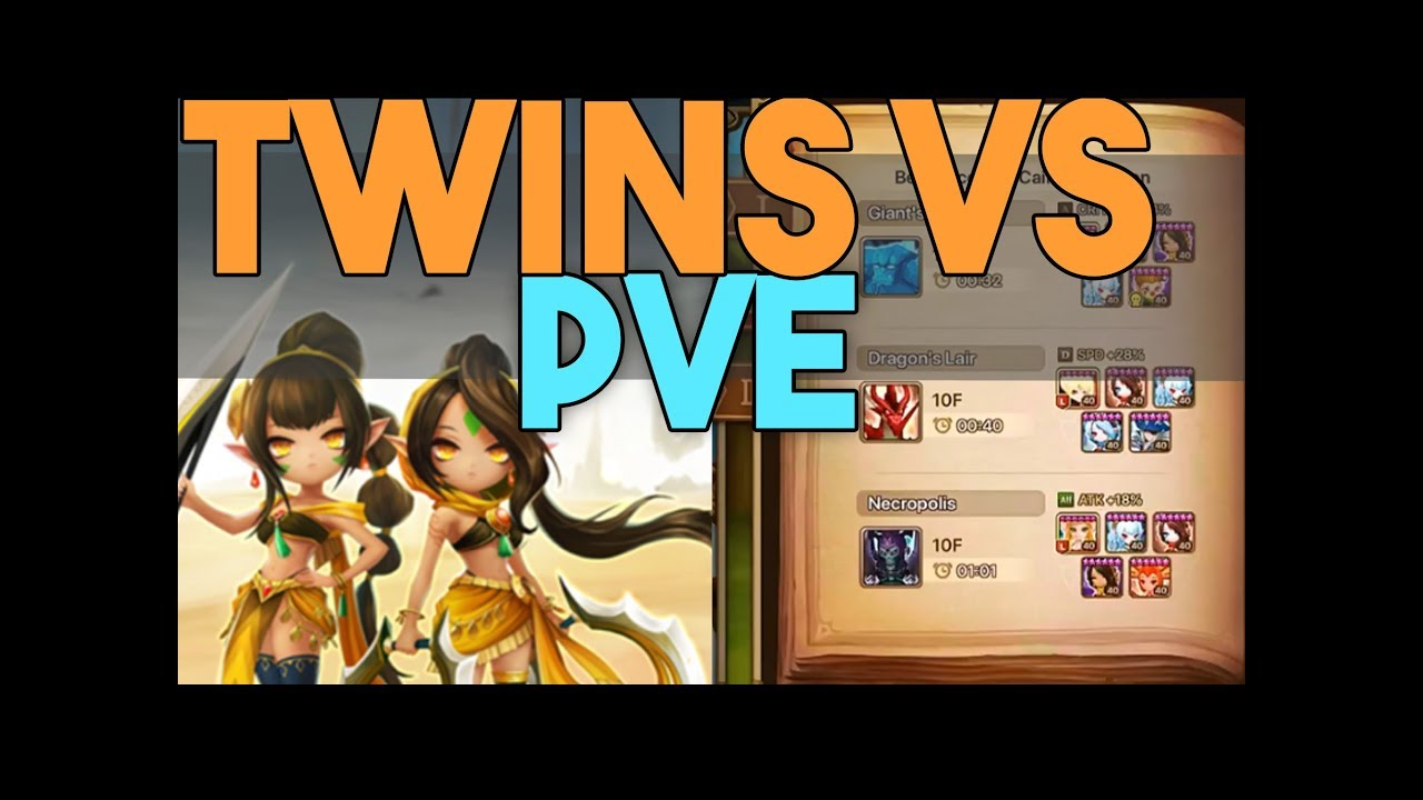 Twins VS PVE - GB10, DB10, NB10 - All Caiross Dungeons in