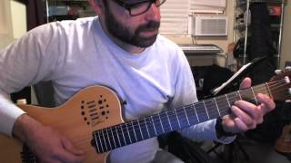 The Boxer Guitar Intro Lesson- Exact correct notes, Simplified fingering