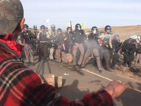 N Dakota Pipeline Squad use rubber bullets against Water Protectors: Police State