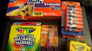 АМЕРИКА Покупка канцтоваров к школе, что необходимо для первоклашки и семиклассника