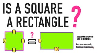 IS A SQUARE A RECTANGLE? YES OR NO?