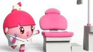 Малышарики -  Зубастик - серия 151 - Обучающие мультфильмы для малышей- идем к стоматологу