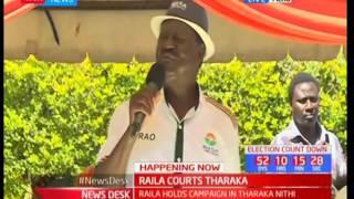 Raila takes vote hunt to Tharaka Nithi