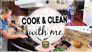 COOK AND CLEAN WITH ME 2019 // CLEANING MOTIVATION // EASY DINNER RECIPE