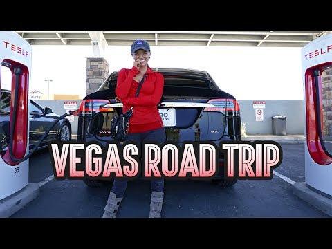 Vegas Road Trip in a Tesla!