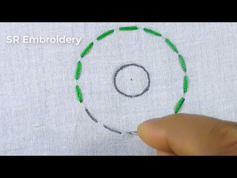 Circle Brazilian Design Stitch,Hand Embroidery Circle Embroidery Stitch,For Cushion Cover