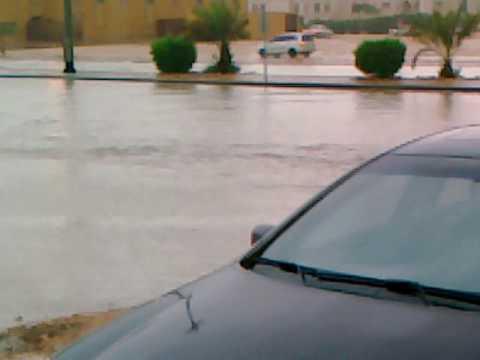 امطار الرياض حي الخليج 1